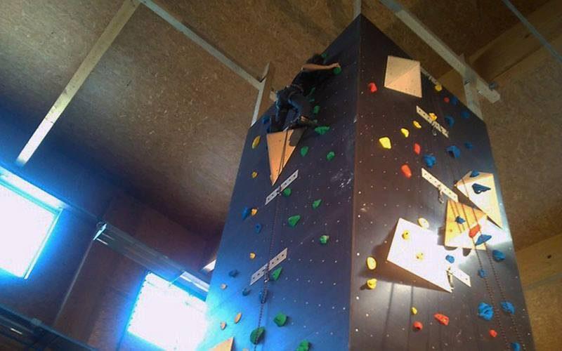 Parete arrampicata Novello Legnami