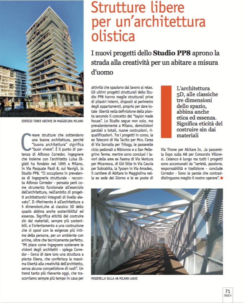 Strutture libere per un'architettura olistica